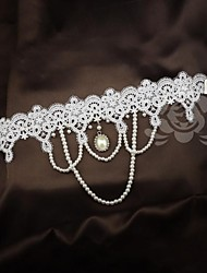Alloy Wedding Bridal Forehead Jewelry Headbands With Gorgeous Pearls and Flowers