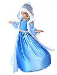 Girls cape hooded long-sleeved dress