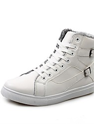 Scarpe da uomo Ufficio e lavoro/Casual Pelliccia sintetica Sneakers alla moda Nero/Rosso/Bianco