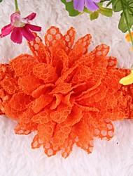 10pcs / enfants mis en fleur coiffe lac_e mousseline cheveux bande bébé enfants filles Couvre-chef couleur aléatoire