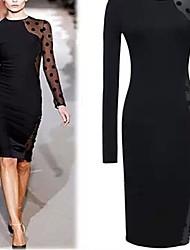 Osim Women's Sexy Long Sleeve Round Dress