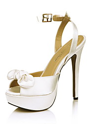 Women's Wedding Shoes Peep Toe Sandals Wedding Ivory