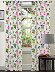 Designer Two Panels Flowers Bedroom Polyester Panel Curtains Drapes