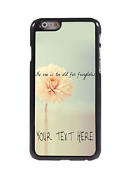 Personalized Phone Case - Flower Design Metal Case for iPhone 6