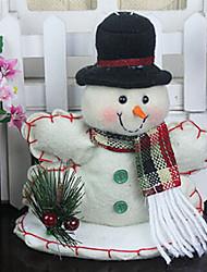natal boneco de neve presente com vitrine, tecido