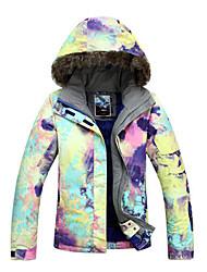 gsou sneeuw outdoor inkt schilderstijl vrouwen waterdichte ski donsjack