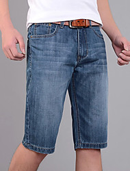 Men's Slim Jeans Straight Cropped pants