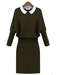 luva de malha longos vestidos das mulheres (mais cores)