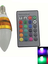 Zweihnde E14 3 W 1 Integrate LED 180-200 LM RGB C Dimmable/Remote-Controlled/Decorative Candle Bulbs AC 85-265 V