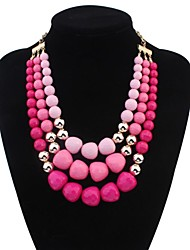 Women's Simply Layers Beads Personality Bib Statement Necklace