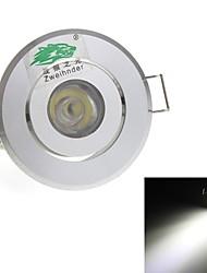 1W Потолочный светильник Утапливаемое крепление 1 Dip LED 90 lm Естественный белый Декоративная AC 85-265 V
