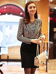 manga larga franja montaje moda de vestir negro