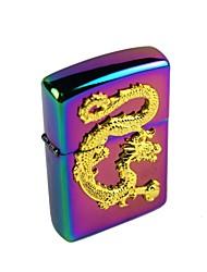chinês colorido relievo dragão querosene mais leve