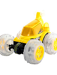 Goldlok 1067FC-01 Mini RC Car Remote Control Rolling Skip Stunt Toy Car with Light Music