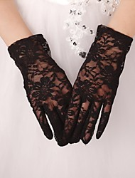 Wrist Length Fingertips Glove Lace Bridal Gloves Party/ Evening Gloves