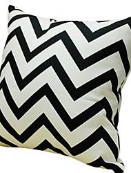 noir wave100% coton taie d'oreiller décoratif