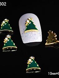10pcs Dimond Xmas Tree 3D Alloy Nail Rhinestone DIY Nail Art Decoration