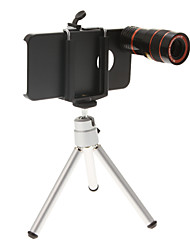 5-in-1 Lens Kit for iPhone(Including a Mini Tripod+4 Lens+Cellphone Case+Clip+Package)