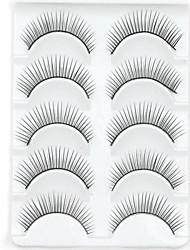 New 5 Pairs Natural Black Long Thick False Eyelashes Eyelash Eye Lashes for Day Eye Extensions