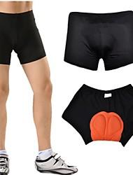 calções de ciclismo de poliéster respirável dos homens