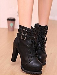 Lacey Fashion Lacing All Match High Heel Boots