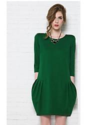 Women's New European Loose Thin Large Yard Dress