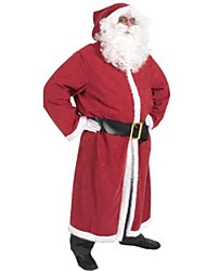 Father Christmas Santa Claus Kris Kringle Gown Men's Christmas Costume