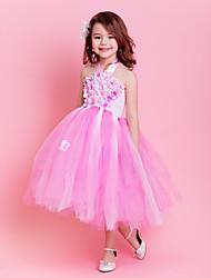 Kids' Dancewear Tutu Ballet Sweet Flower Decor Tulle Dance & Party Dress Kids Dance Costumes