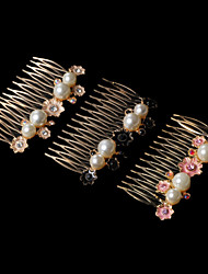 Women's Alloy Imitation Pearls Combs
