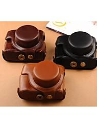 Pajiatu® Retro PU Leather Oil Skin Camera Protective Case Bag Cover for Canon PowerShot G1X Mark II G1X M2