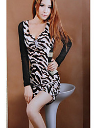 encantadora v collar de leopardo vestido delgado negro