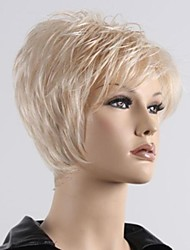 Women Short Fluffy Synthetic Side Band Curly Wigs
