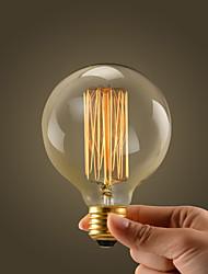 40W E27 retro teollisuuden tyyli maailmaa läpinäkyvä hehkulamppu