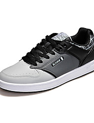 Men's Skateboarding Shoes Leatherette Brown / White / Gray