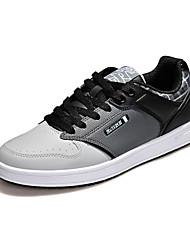 Men's Skateboarding Shoes Leatherette Brown/White/Gray