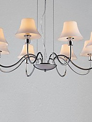 lámparas de araña 8 luces de metal de vidrio cromado galvanoplastia sencilla 220v moda moderna