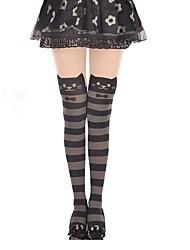 Socks/Stockings Sweet Lolita Lolita Princess Lolita Accessories Stockings Striped For Velvet