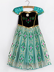 Vestito Girl Autunno / Primavera Poliestere Verde