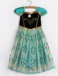 Vestido Chica de - Otoño / Primavera - Poliéster - Verde