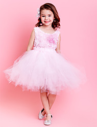 Kids' Dancewear Dresses / Tutus Children's Training Polyester / Tulle Flower(s) Sleeveless NaturalXS:64.5cm S:73.5cm M:80cm L:87.5cm