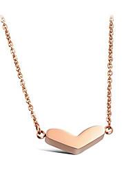 kunkaer женщин все согласования титана стали форме сердца ожерелье