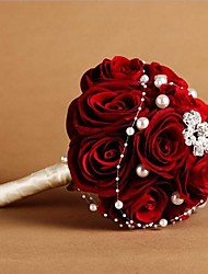 rosa vermelha de seda bridal bouquet weddding