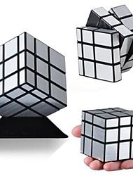3x3x3 miroir d'argent cadeaux lisse cube bloc torsion de vitesse puzzle magique de jouets de couleur aléatoire