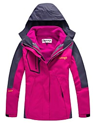 Women's Hiking Jacket Waterproof Thermal / Warm Windproof Detachable Cap Detachable Fleece Single Slider Ski/Snowboard Jackets