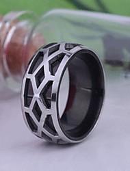 anel de aço inoxidável gravado jóias masculinas personalizadas do presente