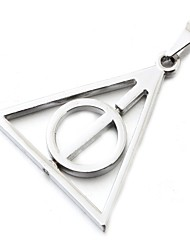 Triangle Circle Holy Silver Zinc Shining Harry Pendant Only (1 Piece)