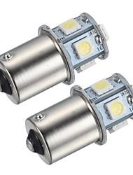 merdia 1.5w 45lm 1156 8x5050smd conduit de lumière de frein de lumière blanche / feu de recul / tour signal lumineux (2 pièces / 24v)