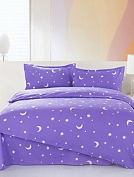 Mingjie Purple Stars and Moons Bedding Sets 4pcs Duvet Cover Sets Bed Linen China Queen Size and Full Size