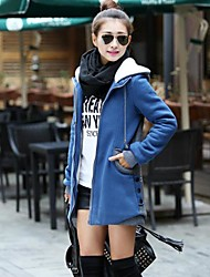 Women's Blue/Red/Black/Yellow Coat , Casual Long Sleeve