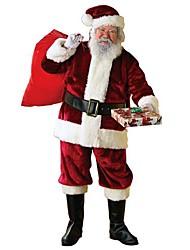 Fantasias de Cosplay Ternos de Papai Noel Festival/Celebração Trajes da Noite das Bruxas Cor Única Casaco / Calças / Cinto / Chapéus Natal